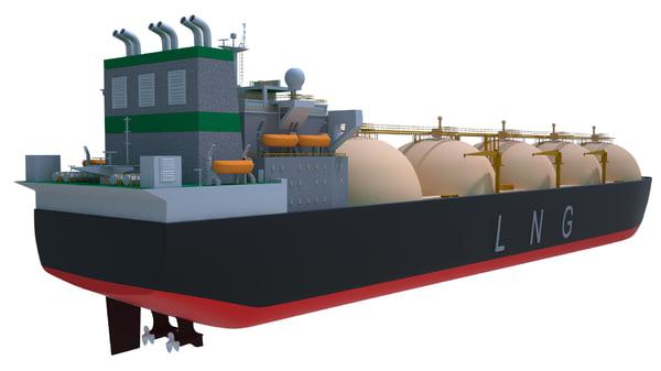 lng tanker ship 3D model