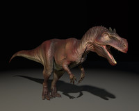 3D allosaurus model