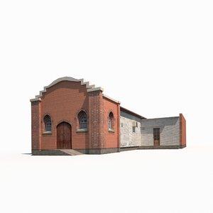 old church building 3D model