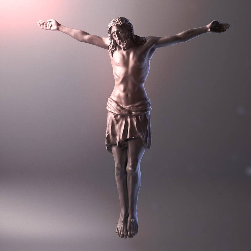 jesus cross 3d model turbosquid 1154717