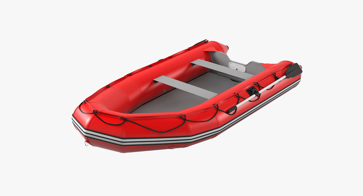 3D saturn sd365 inflatable boat model