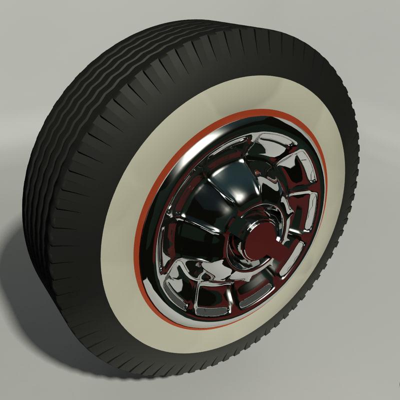 3D model corvette wheel