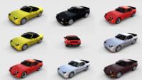 pack porsche 944 interiors 3D model