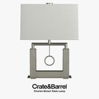 realistic charles nickel table lamp model