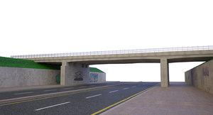 3D model overpass