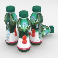Dairy Bottle Danone Activia Raspberry 300g