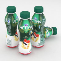 Dairy Bottle Danone Activia Raspberry Blueberry 300g