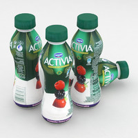 dairy bottle danone activia 3D