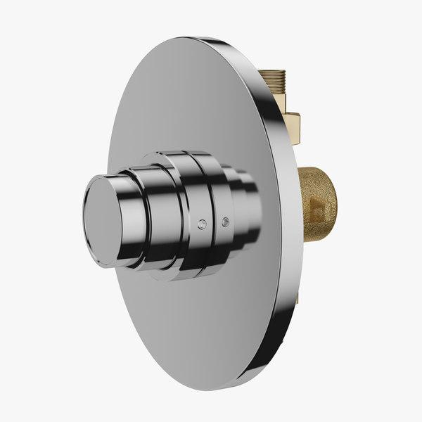 3D automatic shower mixer model