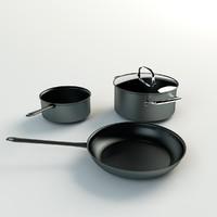 3D pans kitchen model