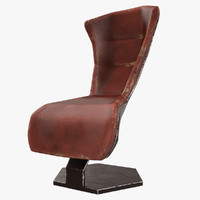 3D model sci-fi armchair