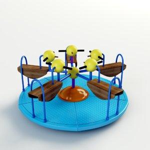 wood toy park 3D model