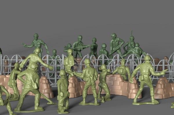 3D model pack miniatures