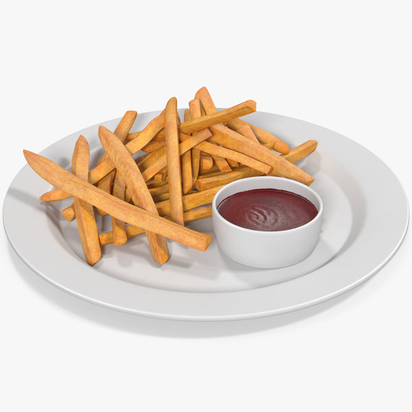 3D french fries 3