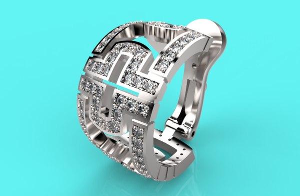 bvlgari copy 192 earrings 3D model