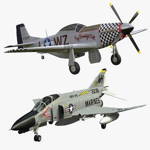 f-4 phantom 3D model
