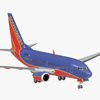 3D boeing 737-600 southwest airlines model
