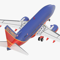 3D boeing 737-600 southwest airlines