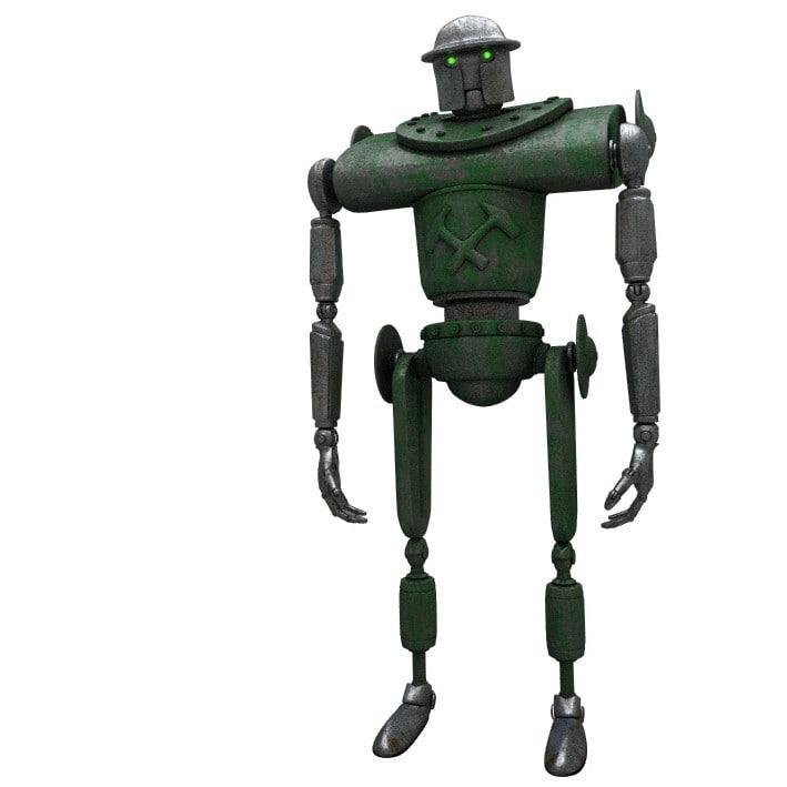 3D model sci-fi military robot -