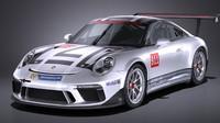 3D porsche 911 gt3 model