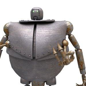 3D sci-fi robot - worker