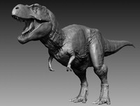 realistic tyrannosaurus rex 3D model