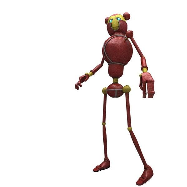 3D model sci-fi female robot -