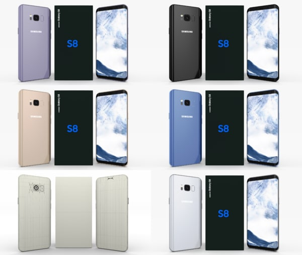 3D pack samsung galaxy s8