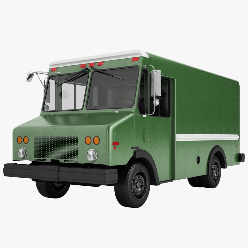 mail truck 3D