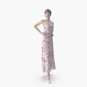 showroom mannequin 036 pose 3D model