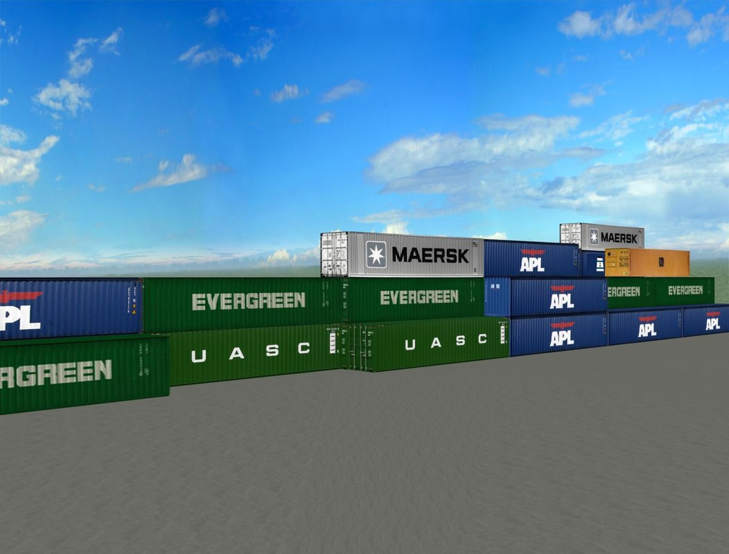 3D shipping containers model