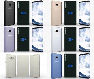 pack samsung galaxy s8 3D