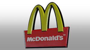mcdonald s sign 3D