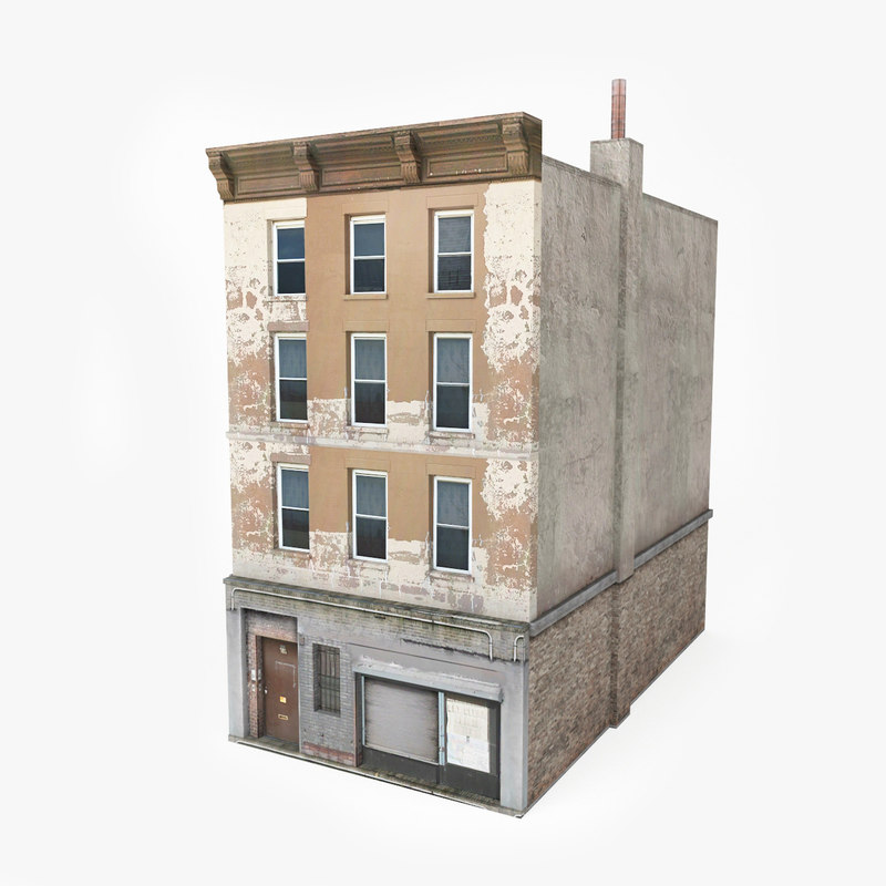 Ready Old Building Games 3d Model Turbosquid 1154878