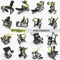 Pure Strength collection Technogym, full set 16 gym items