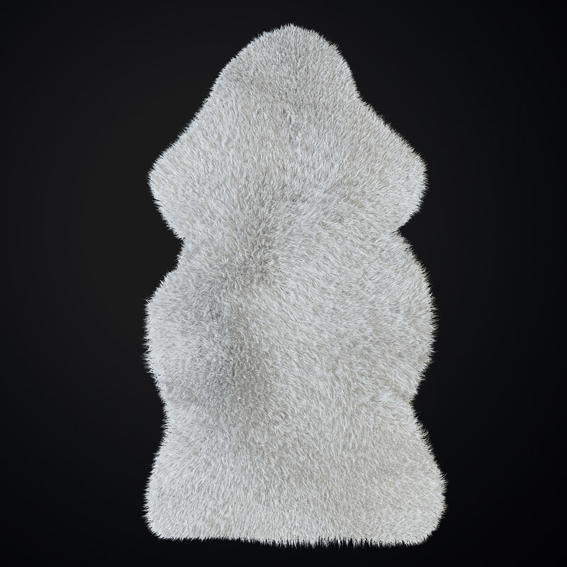3D ludde sheepskin model