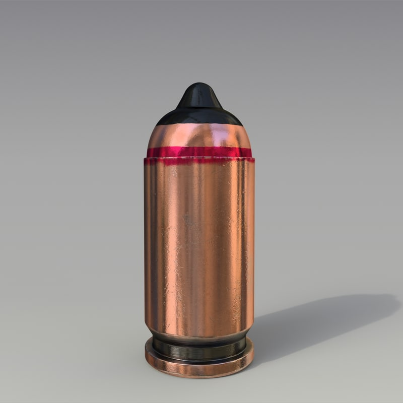 9x18mm cartridge armor-piersing 3D