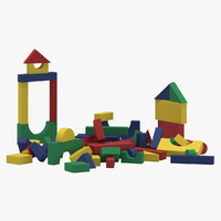 toy kids building blocks 3D model