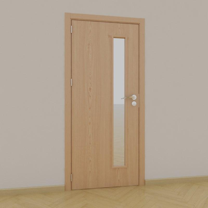 3D model sample interior doors
