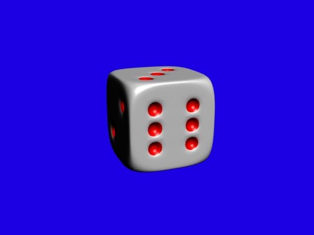 gambling cube 3D model