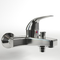 3D single lever wall mixer