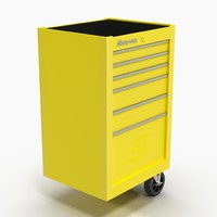 3D tool storage end yellow