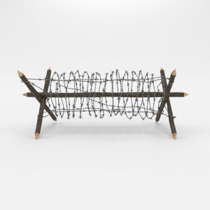 barbed wire obstacle 2 3D model