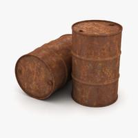 3D rust barrels