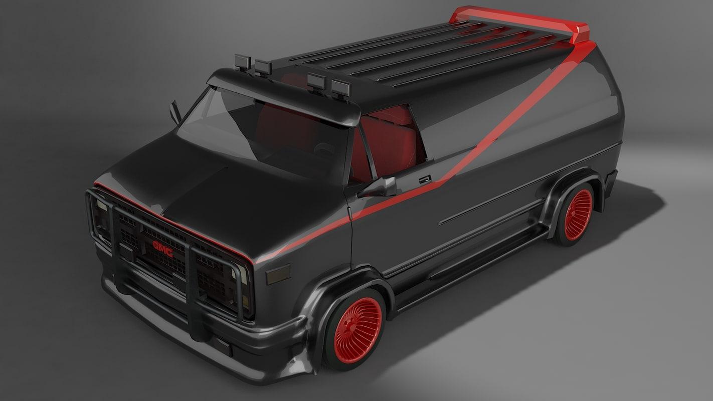 a-team vehicle 3D model