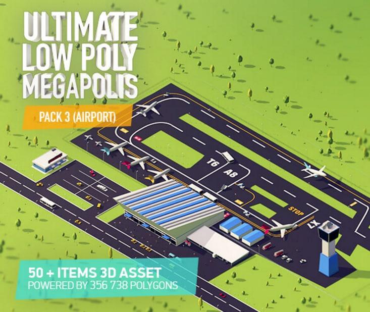 airport city asset 3D model