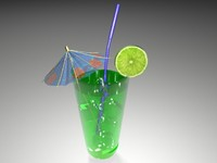 green cocktail 3D