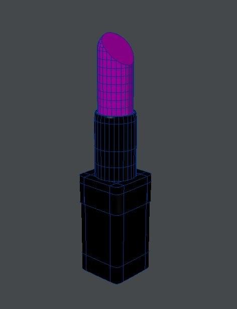 3D lipstick model