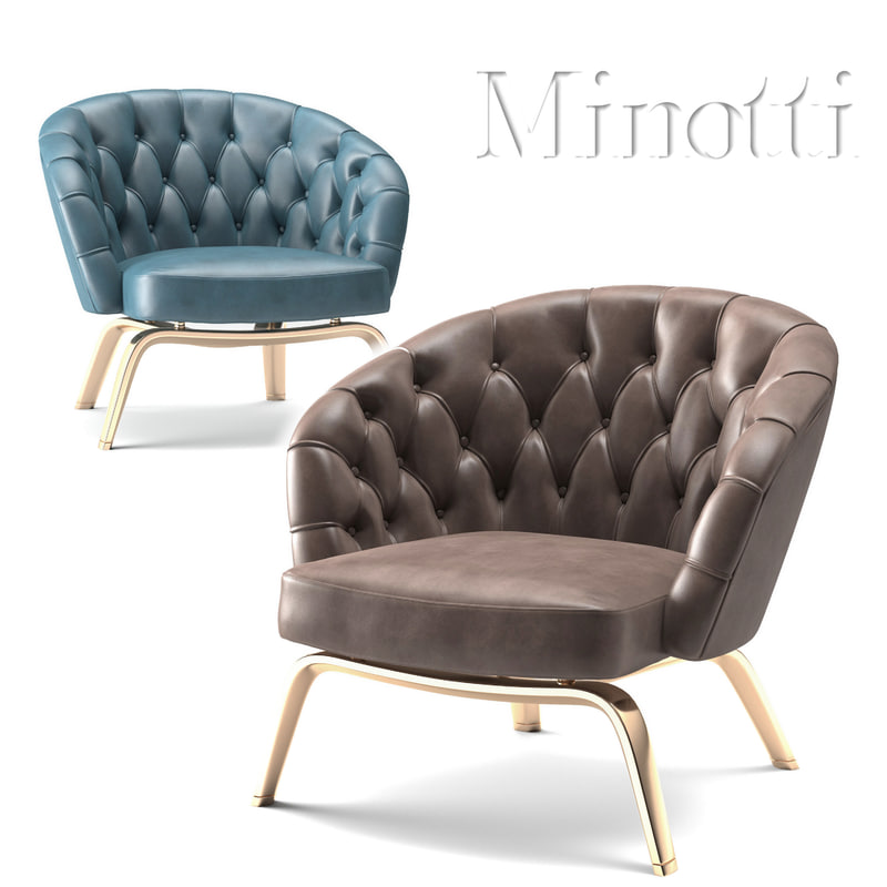 3D minotti chair winston model
