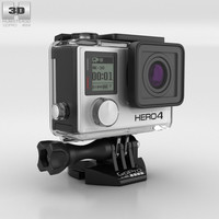 3D gopro hero4 4 model
